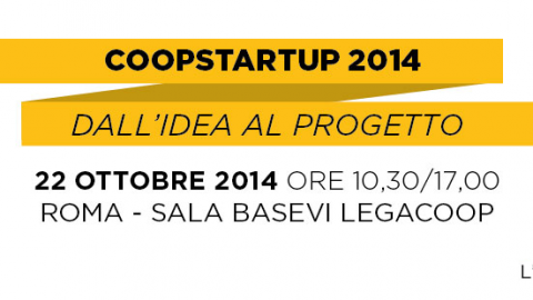 Primi risultati di Coopstartup il 22 Ottobre a Roma