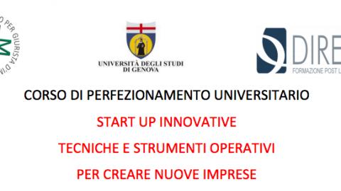 """Corso di perfezionamento universitario """"Start-up innovative, tecniche e strumenti operativi per creare nuove imprese"""""""