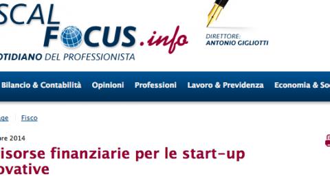 Le risorse finanziarie per le start-up innovative
