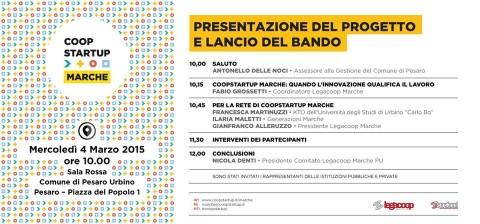 Presentazione Coopstartup Marche a Pesaro